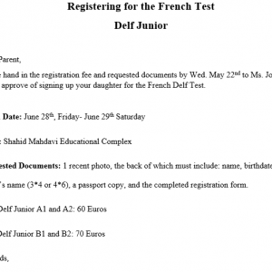 Delf Junior Test Registration