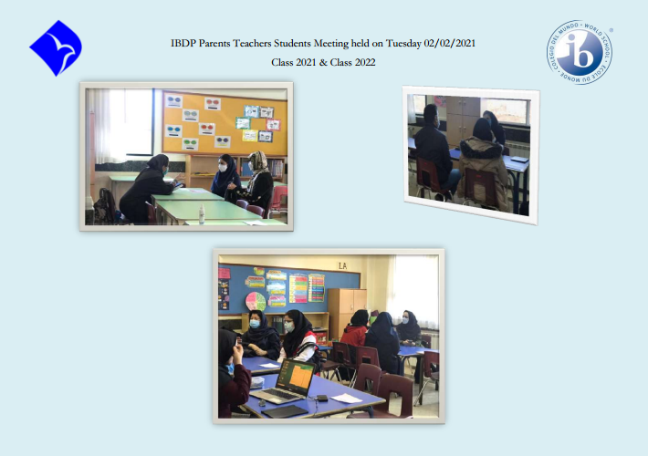 IBDP Parents Teachers Students Meeting held on Tuesday 02/02/2021